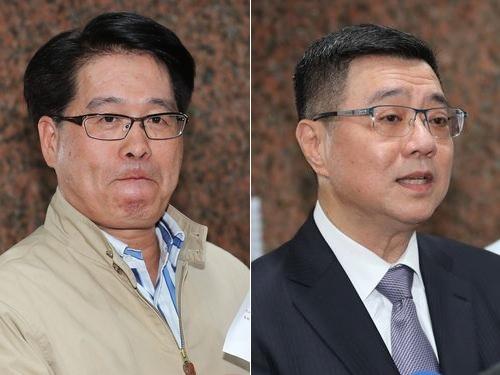 来年1月投開票の民進党主席選に立候補する(左から)游盈隆氏、卓栄泰氏
