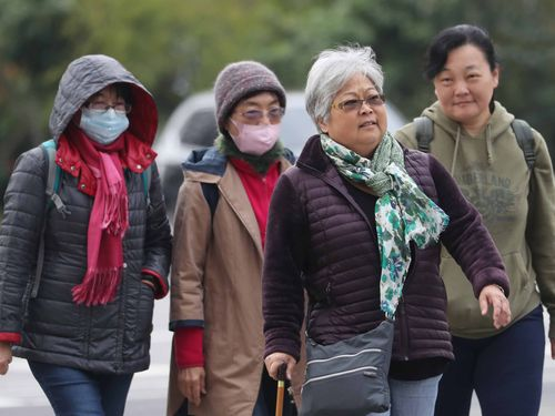 寒気団の影響で17日の台湾本島は、新北永和で平地としての最低気温12.7度を観測した