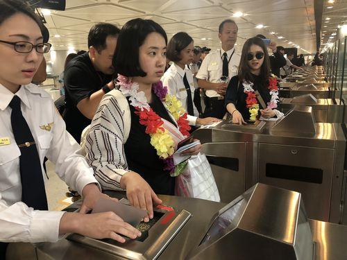 桃園国際空港内の「自動化ゲート」