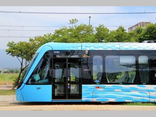 淡海ライトレールの車両=新北市捷運工程局提供