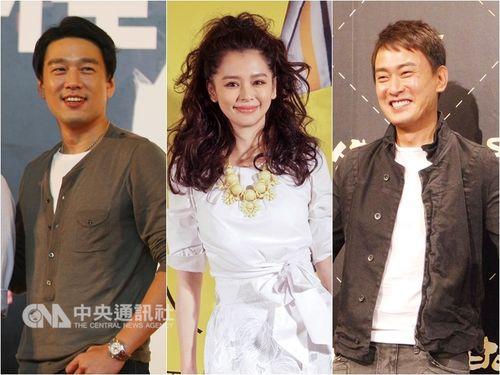 HBOアジアによる新ドラマ「獵夢特工」で主演を務めるビビアン・スー(中央)とワン・シーシェン(右)