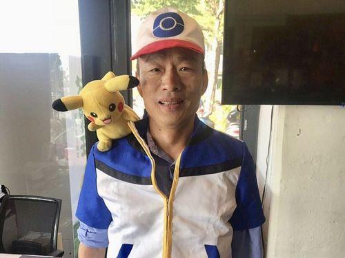 ポケモンのキャラクター、サトシに扮した韓国瑜高雄市長=韓氏のIGより