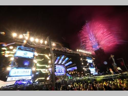 台北101の花火ショー