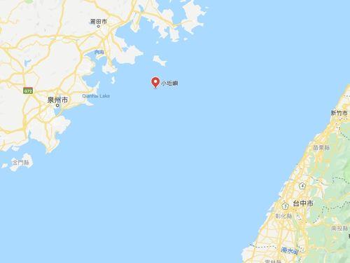 小キュウ島の位置を示す地図=グーグルマップから