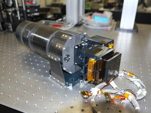 日台の大学が共同開発した高精度マルチスペクトル望遠鏡(HPT)=台湾・中央大提供