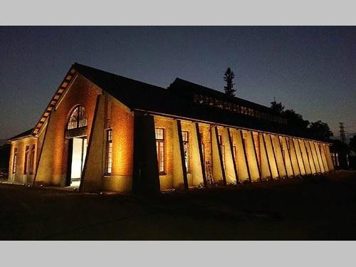 ろ過装置が入る建物=台南市文化資産管理処提供