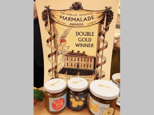 「世界オリジナルマーマレードアワード」で受賞した柯亜さんの出品作。「ダブルゴールド」に輝いたのは右の作品