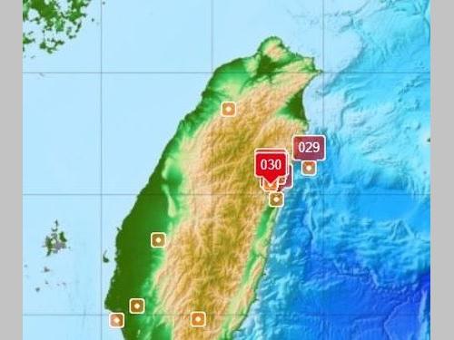 台湾東部で今月9日以降、地震が相次ぐ=中央気象局提供
