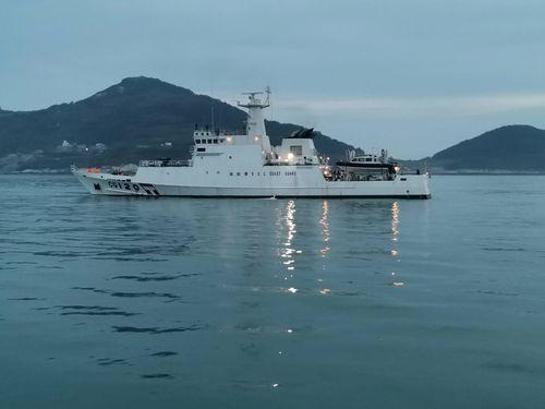 馬祖の周辺海域をパトロールする巡視船「澎湖艦」(500トン級)=馬祖海巡隊提供