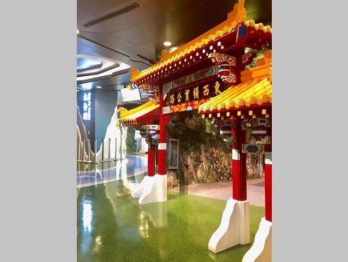 花蓮の観光スポットをイメージした桃園空港の搭乗待合室