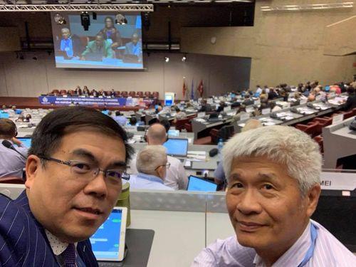 左から彭啓明氏、呂忠津氏=市民団体「民生公共物聯網」のフェイスブックページより