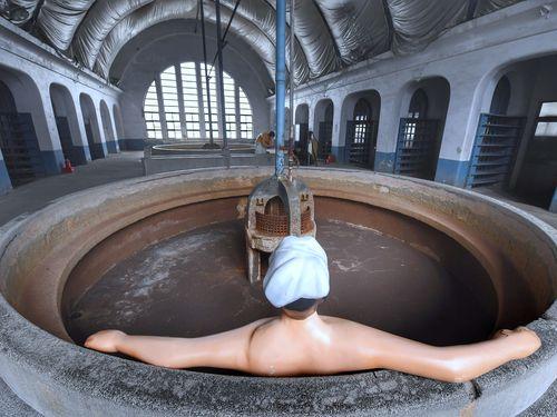 旧台北鉄道工場の職員浴場