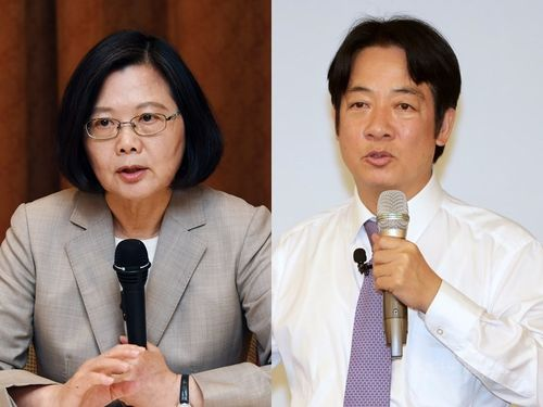 蔡英文総統(左)、頼清徳前行政院長(資料写真)