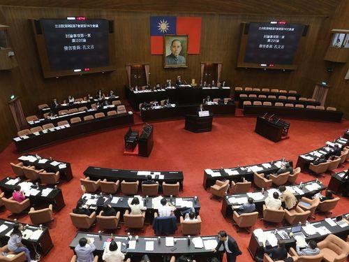 共同声明で条例改正に反対する香港市民への支持を表明する立法院=資料写真