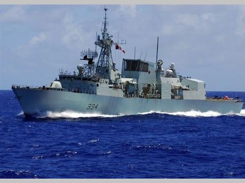 カナダ海軍のフリゲート艦レジャイナ=ウィキメディアコモンズから