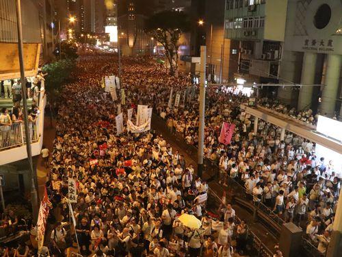 香港で6月9日に起きた大規模デモ
