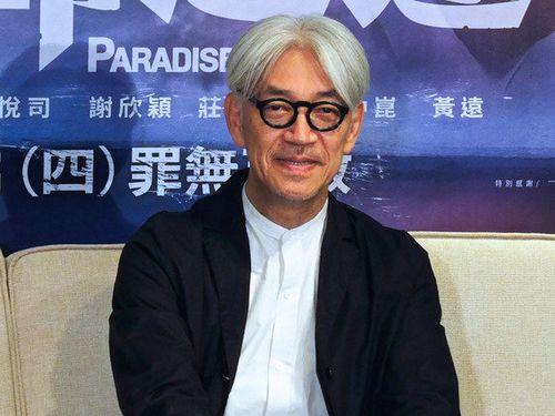 台北映画賞で音楽賞を受賞した坂本龍一(威視電影提供、2019年5月)