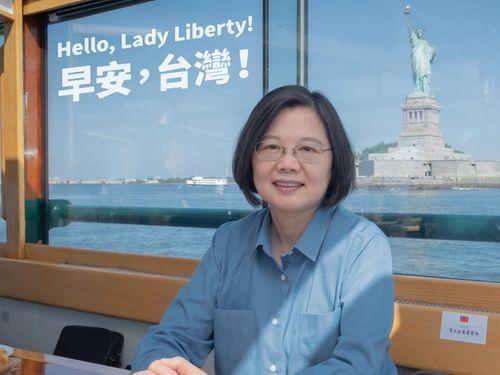 外遊中、米ニューヨークに滞在した蔡英文総統=蔡氏のフェイスブックより