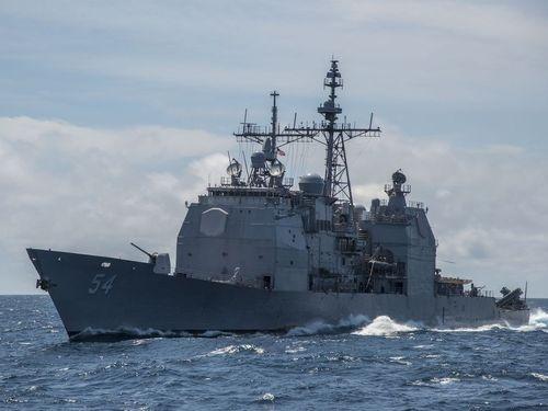 米海軍のミサイル巡洋艦「アンティータム」=同軍ウェブサイトから