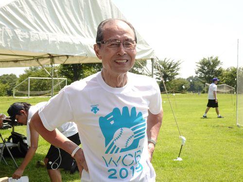 台湾球児の試合を観戦し、エールを送った王貞治氏