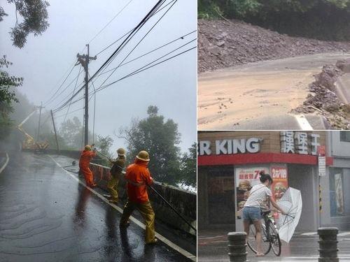 台風の影響で北部を中心に7万7000戸超が停電した