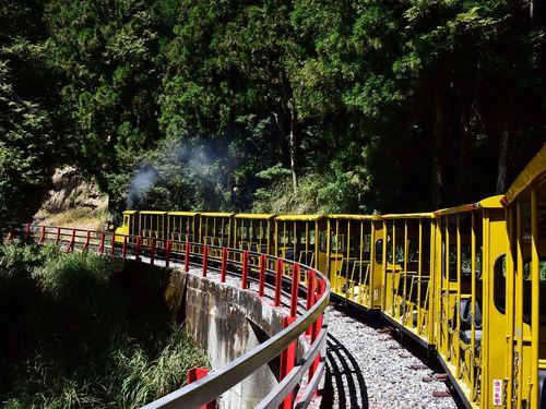 太平山のトロッコ列車=羅東林管処提供