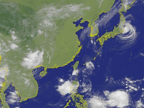 2019年9月9日正午12時の台湾付近の赤外画像=中央気象局の公式サイトより