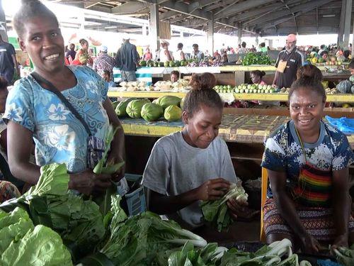 ソロモン諸島の首都ホニアラにある中央卸売市場