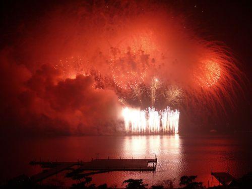 屏東県で2007年10月10日に打ち上げられた国慶節の花火