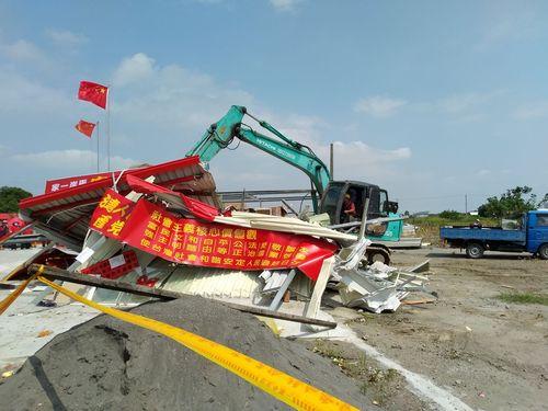 強制撤去された台南市の廟