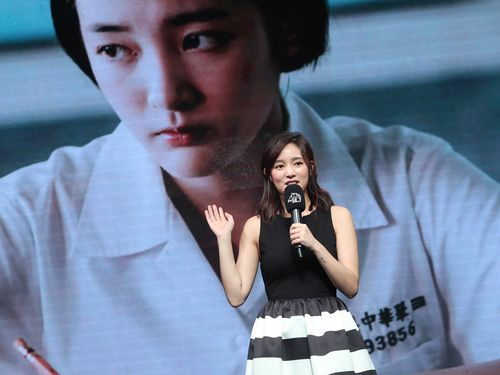 1日のノミネート発表会見に招かれた女優のワン・ジン(王浄)。「返校」で主演女優賞候補に選ばれた