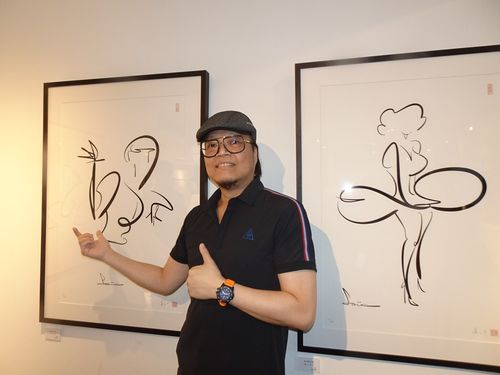 台湾1コマ漫画の第一人者、蕭言中さん