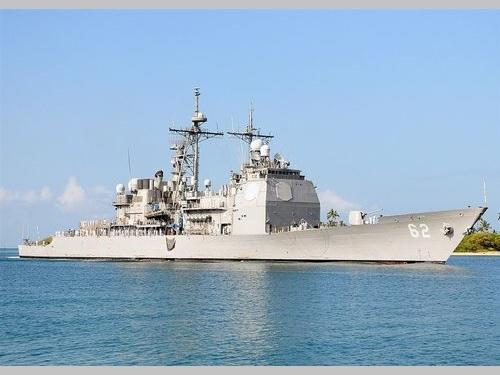 米海軍のミサイル巡洋艦「チャンセラーズビル」(CG-62)=ウィキメディアコモンズから