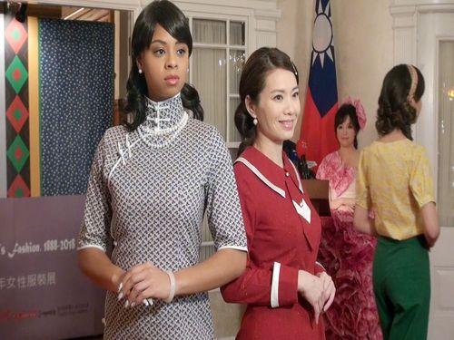 駐米代表処主催のファッションショー、台湾女性の服装の変遷伝える
