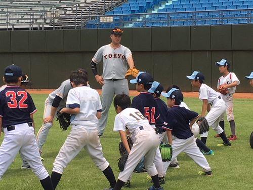巨人3軍、台北で野球教室 日本人学校の児童生徒を指導