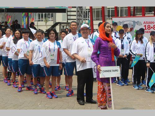 アジア大会、台湾選手団が入村式