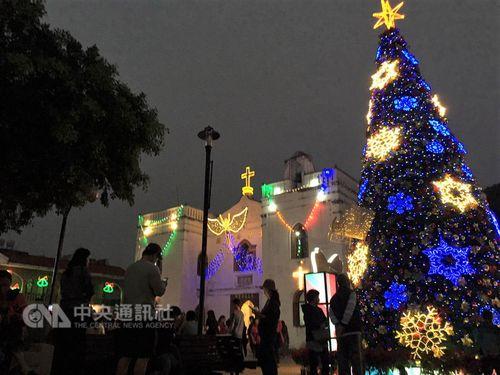 南部・屏東でクリスマスイベント 台湾最古のカトリック聖堂がライトアップ