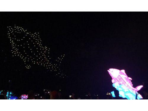 300機のドローンで光のショー 屏東開催の台湾ランタンフェス