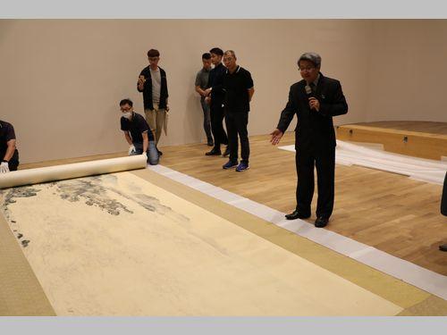 張大千ら10人の水墨画家による大作「長春宝島図」、24年ぶりに公開