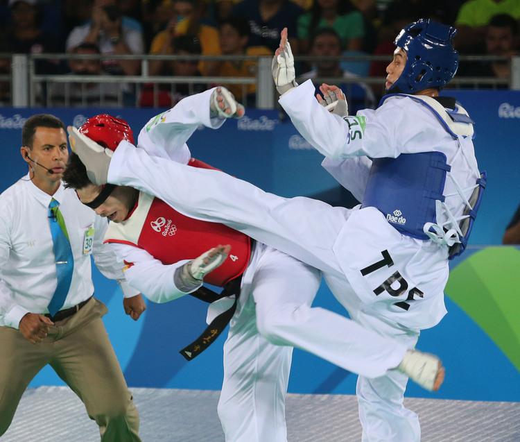 里約奧運跆拳道 劉威廷首戰勝(1)