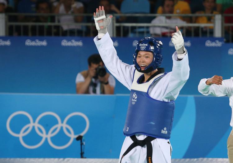里約奧運跆拳道 莊佳佳首戰勝(3)