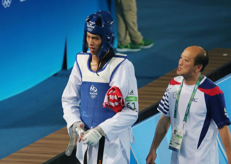 奧運跆拳道男子 劉威廷8強止步(6)