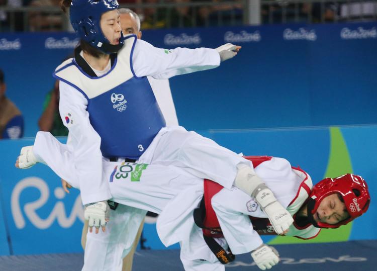 奧運女子跆拳道 莊佳佳不敵韓國(3)