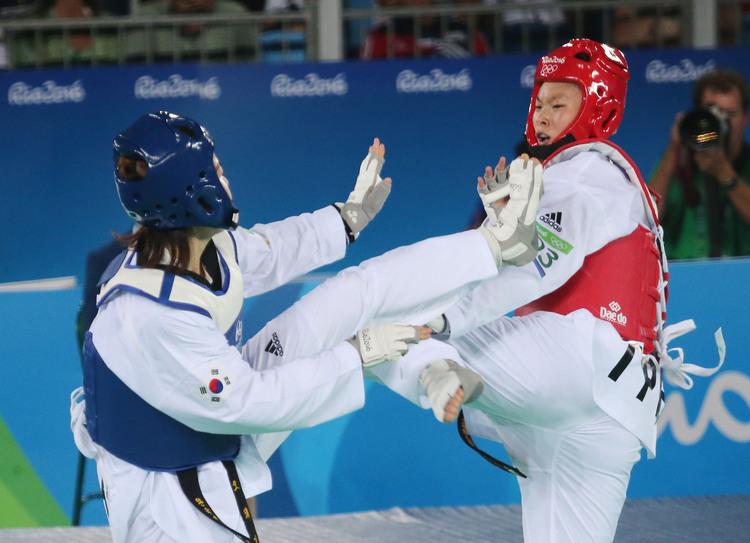 奧運女子跆拳道 莊佳佳不敵韓國(6)
