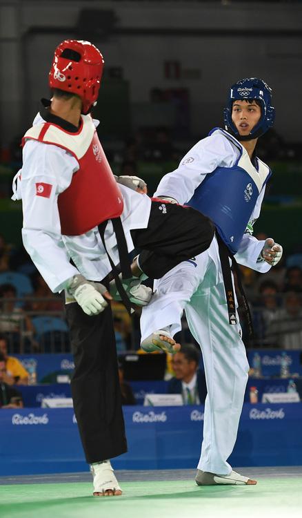 奧運跆拳道 劉威廷8強止步(1)
