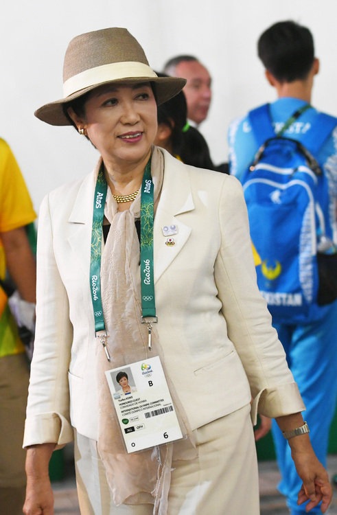 東京都知事小池百合子考察奧運場館