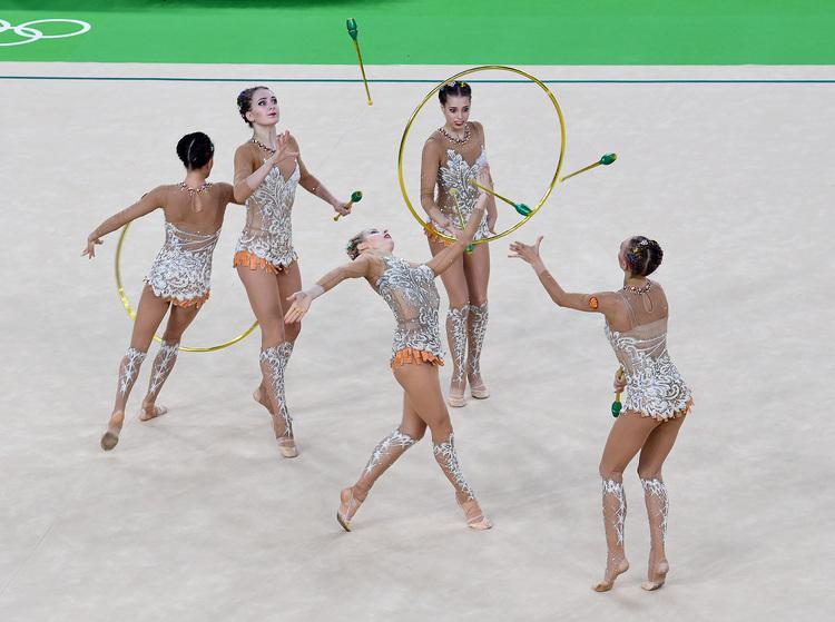 奧運韻律體操團體賽 俄羅斯奪金(2)