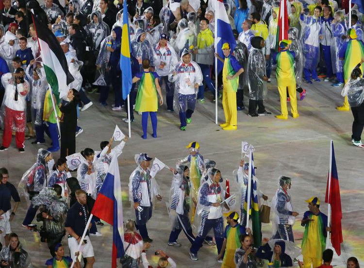 里約奧運閉幕 中華代表團進場(2)