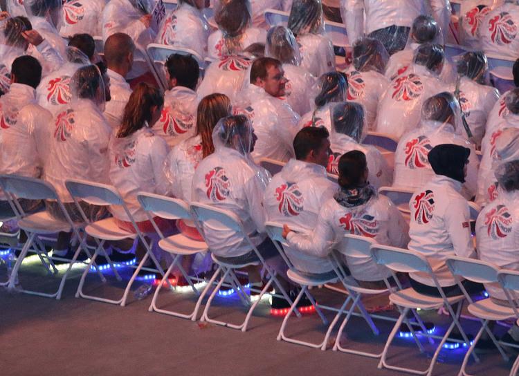 里約奧運閉幕式 英國代表團閃閃發光