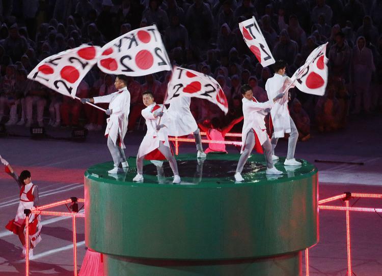 東京奧運籌委會在里約閉幕式表演